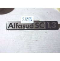 2189 - SCRITTA ORIGINALE ALFA ROMEO ALFASUD SC 1.3 EMBLEM LOGO STEMMA