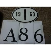 A86 - TARGHETTA ITALIA 1960 - VW maggiolino maggiolone VOLKSWAGEN