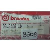 B308 - COPPIA DISCHI FRENO BREMBO 08.8408.1 - AUDI VOLKSWAGEN A4 PASSAT
