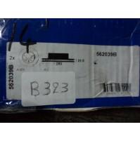 B323 - BENDIX 562039B - COPPIA DISCHI FRENO ANTERIORI AUDI A3 SKODA OCTAVIA
