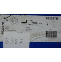 B327 - BENDIX 562057B - COPPIA DISCHI FRENO POSTERIORE GALAXY ALHAMBRA SHARAN
