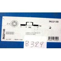 B329 - BENDIX 562213B - COPPIA DISCHI FRENO POST MERCEDES E200 E55 AMG E270 E320