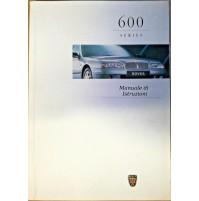 B406B - LIBRETTO USO E MANUTENZIONE ROVER 600 ITALIANO