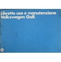 B406S - LIBRETTO USO E MANUTENZIONE VOLKSWAGEN GOLF
