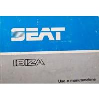 B406Z - LIBRETTO USO E MANUTENZIONE SEAT IBIZA