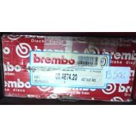 B504 - BREMBO 08.4874.20 - COPPIA DISCHI FRENO POSTERIORI AUDI A4 100 200