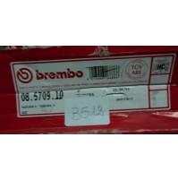B512 - BREMBO 08.5709.10 COPPIA DISCHI FRENO ANTERIORI AUDI 80