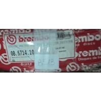 B513 - BREMBO 08.5714.10 COPPIA DISCHI FRENO ANTERIORI AUDI 80