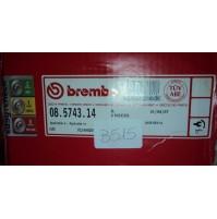 B515 - BREMBO 08.5743.14  COPPIA DISCHI FRENO POSTERIORI AUDI A6 100 VW PASSAT