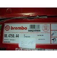 B517A - BREMBO 08.4750.44 COPPIA DISCHI FRENO ANTERIORI MERCEDES 2024210212 W202