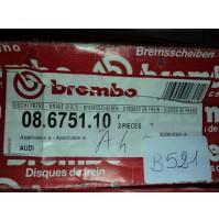 B521 - BREMBO 08.6751.10 COPPIA DISCHI FRENO ANTERIORI AUDI A4 8D0615301A