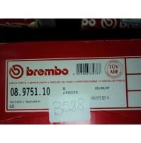 B528 - BREMBO 08.9751.10 COPPIA DISCHI FRENO POSTERIORI AUDI A6 A4 480615601A