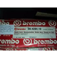B530  - BREMBO 08.4284.10 COPPIA DISCHI FRENO ANTERIORI RENAULT 18 FUEGO