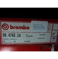 B534 - BREMBO 09.4765.14 COPPIA DISCHI FRENO ANTERIORI AUDI 80 CORDOBA GOLF II