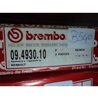 B540 - BREMBO 09.4930.10 COPPIA DISCHI FRENO ANTERIORI 7700758901 RENAULT 21