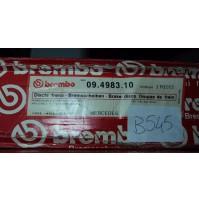 B545 BREMBO 09.4983.10 COPPIA DISCHI FRENO POSTERIORI MERCEDES 190