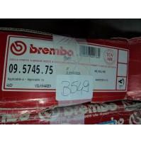 B549 - BREMBO 09.5745.75 COPPIA DISCHI FRENO ANTERIORI AUDI A4 A6 vw passat