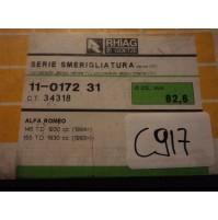 C917 - RHIAG 11-0172-31 - GUARNIZIONI SMERIGLIO ALFA ROMEO 145 155 1.9 TD  Ø82mm