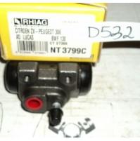 D532 - RHIAG NT3799C - - CILINDRETTO FRENI - CITROEN ZX PEUGEOT 306