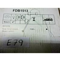 D79 - SET PASTIGLIE PATTINI FRENI - FDB1513 TOYOTA YARIS ANTERIORI