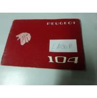 E1090P - LIBRETTO USO E MANUTENZIONE PEUGEOT 104