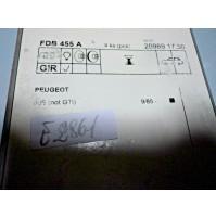 E2861 - KIT PASTICCHE PASTIGLIE FRENI ANTERIORI PEUGEOT 309 - FDB455A