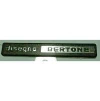 F4 - DISEGNO BERTONE SCRITTA LOGO EMBLEM FREGIO Lamborghini Ferrari DE TOMASO